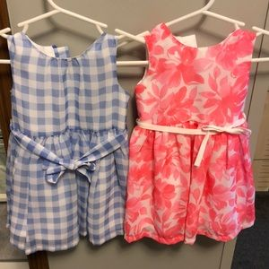 2- size 6 month dresses